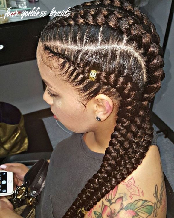 Goddess braids hairstyles, pictures of goddess braids for black women four goddess braids