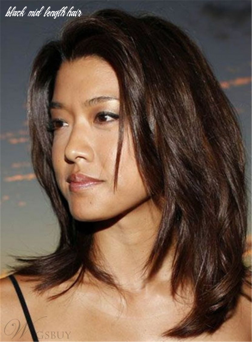 Grace Park Dark Brown Celebrity Synthetic Mid-Length Straight Hair ...