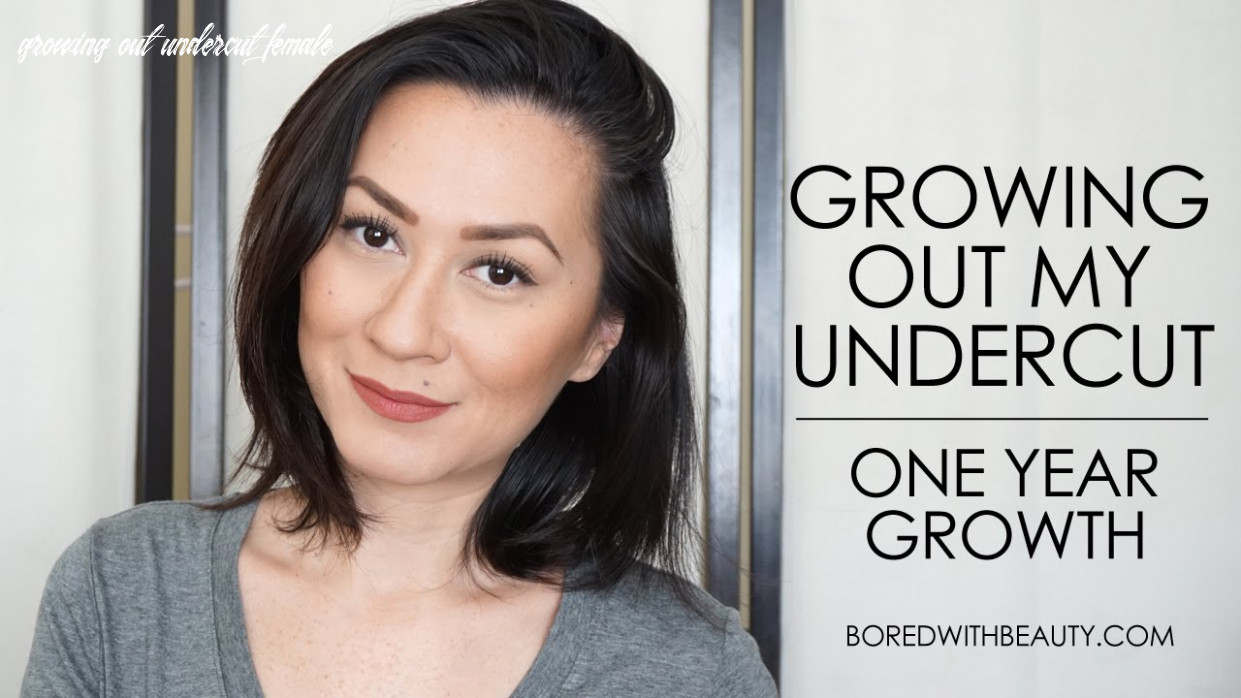 Growing out my undercut: one year growth growing out undercut female