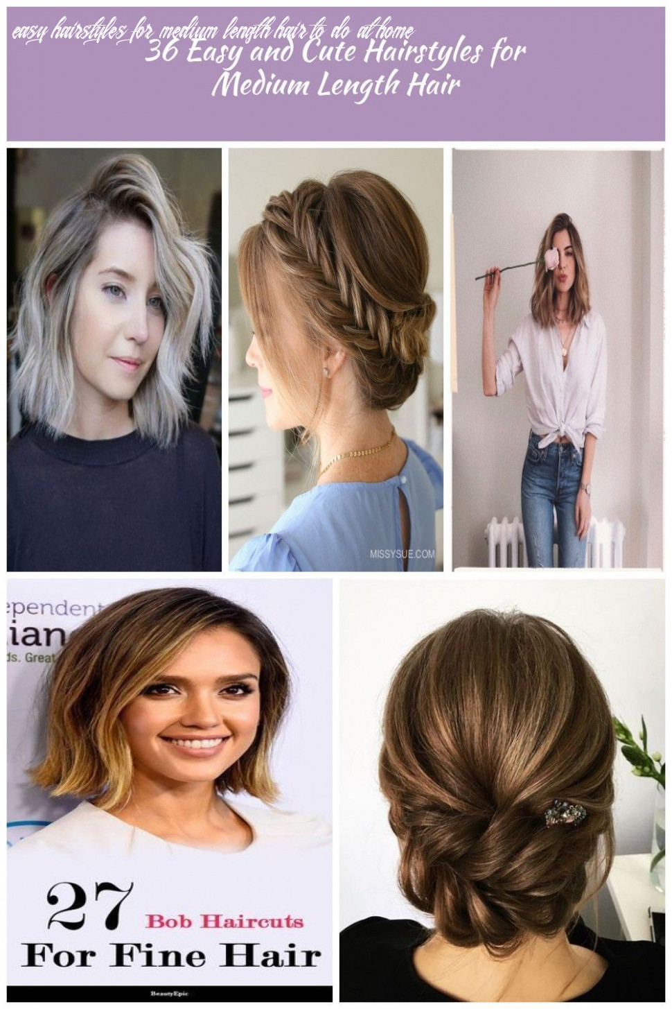 hair styles for medium length hair 10 Easy and Cute Hairstyles for ...