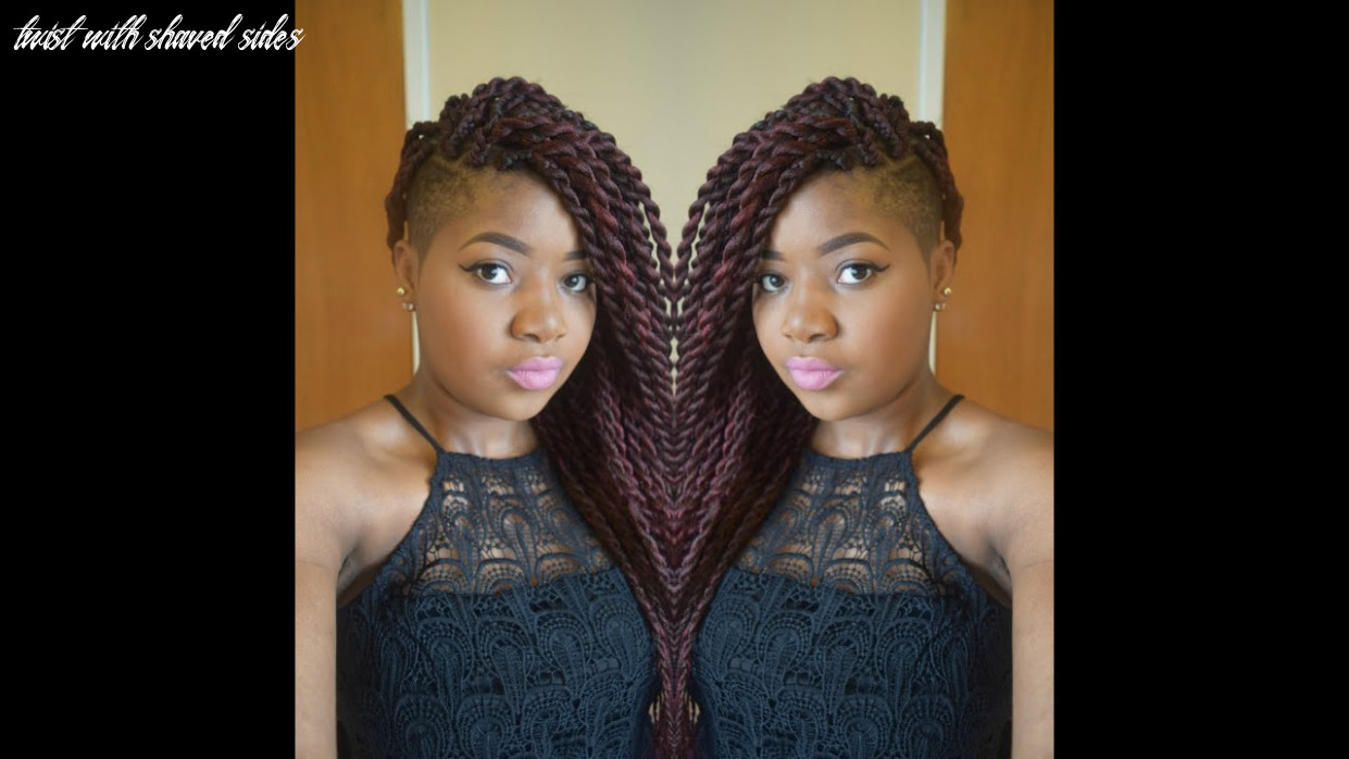 Hair tutorial :jumbo senegalese twists/ rope twists/ two strand twists with shaved sides twist with shaved sides