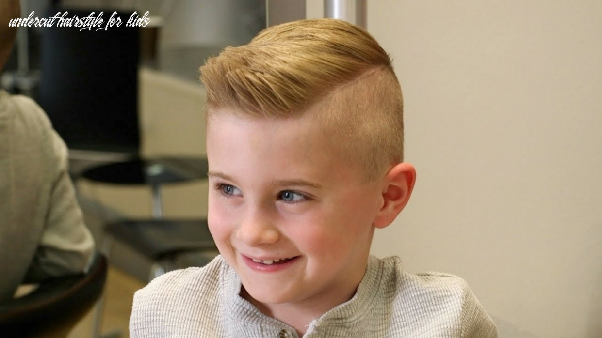Haircut tutorial for young boys thesalonguy undercut hairstyle for kids