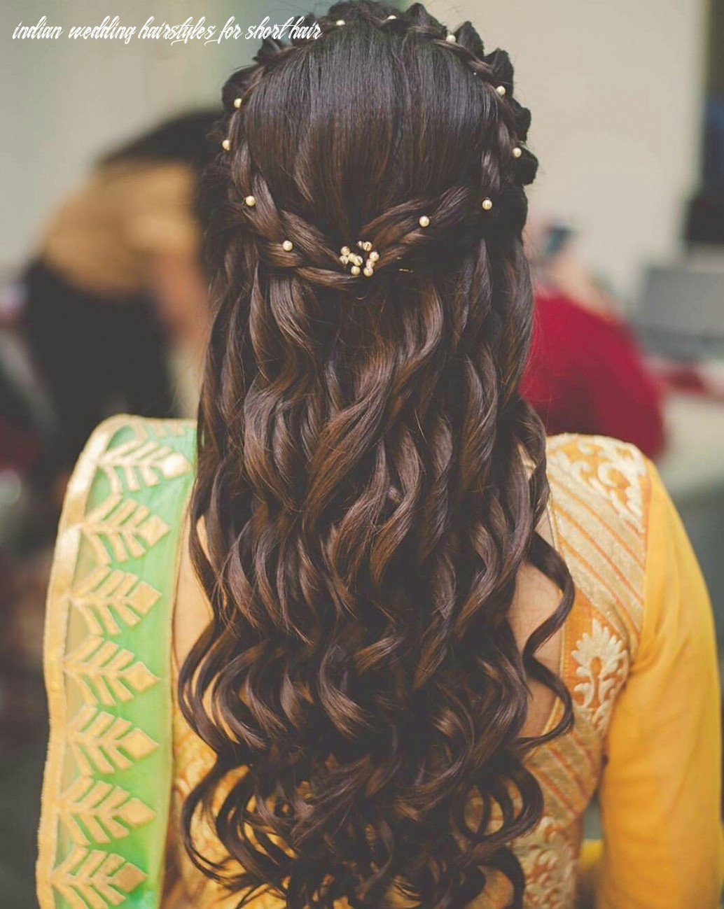 Hairstyle for short hair | engagement hairstyles, indian wedding