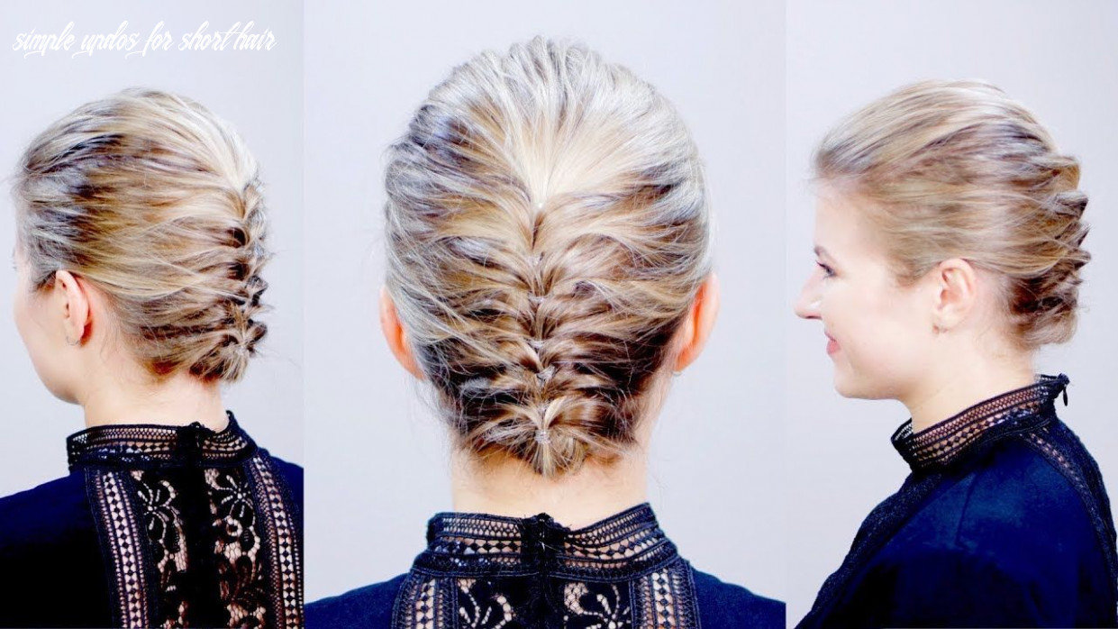 HAIRSTYLE OF THE DAY: Easy Elegant Textured Updo for Short Hair ...