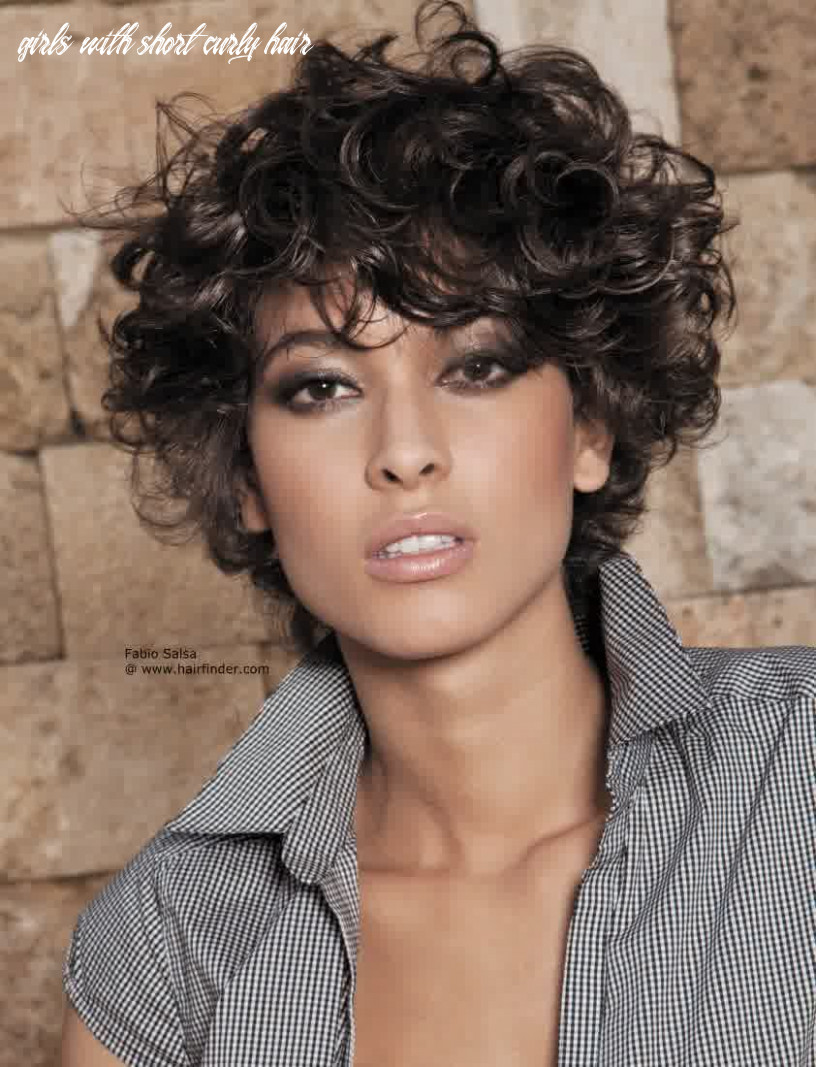 Hairstyles for girls with curly hair | frizzy curly hair, short