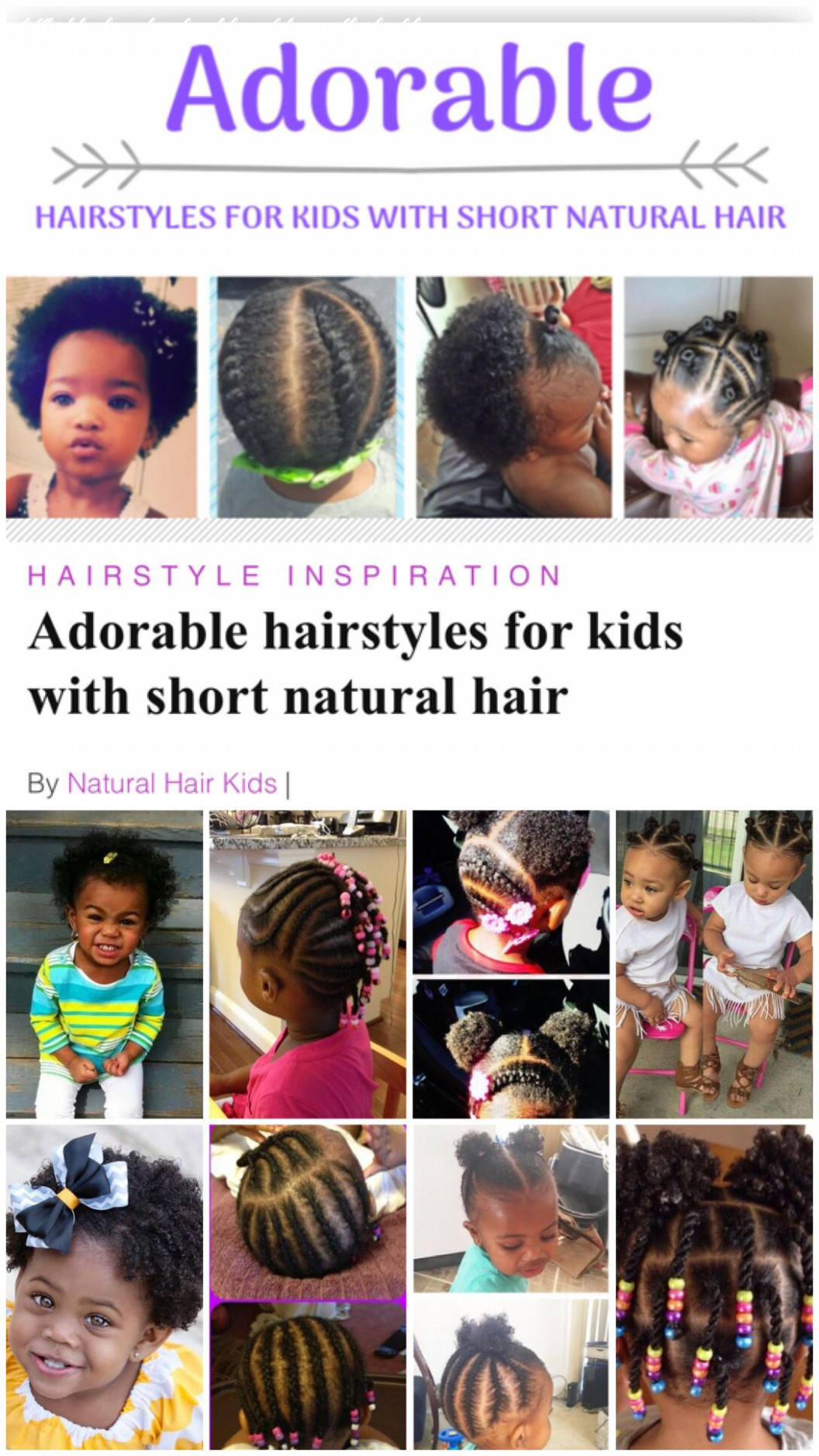 Hairstyles for kids with short natural hair | black girl short