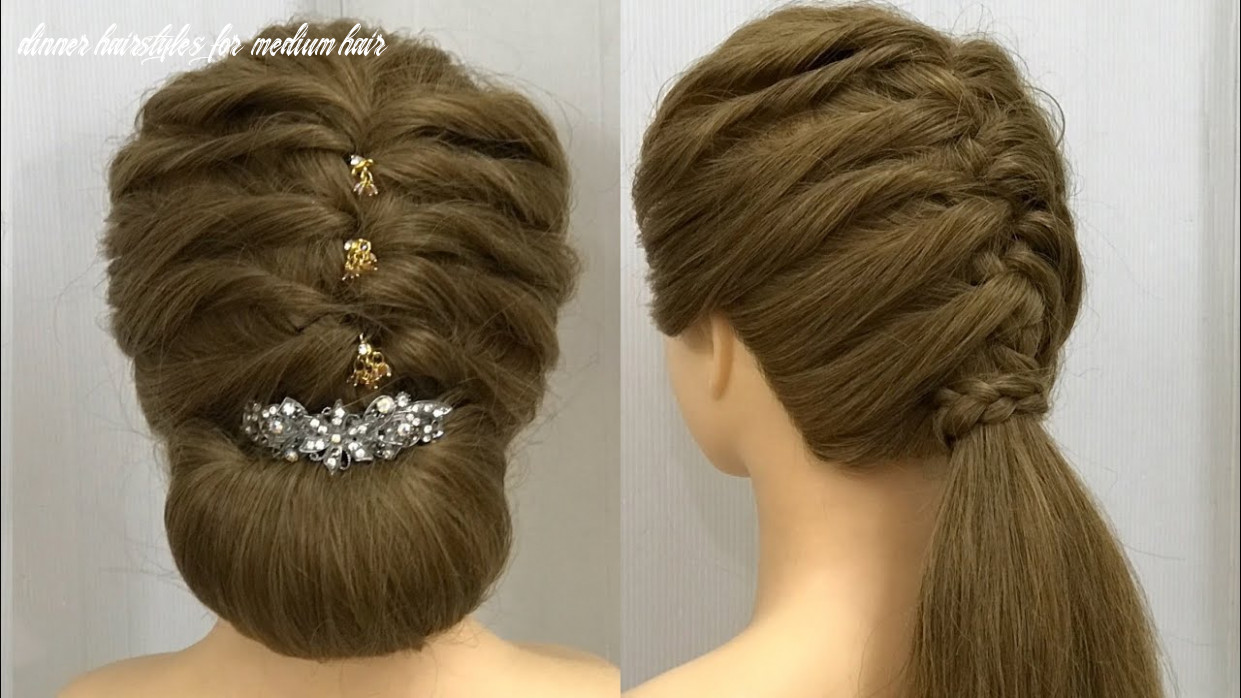 Hairstyles for medium, long hair : easy party hairstyles dinner hairstyles for medium hair