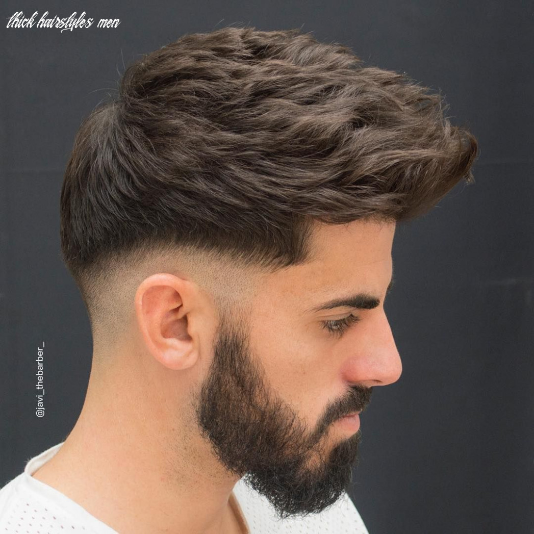 Hairstyles For Men With Thick Hair: 12 Cool Styles For 12 (With ...