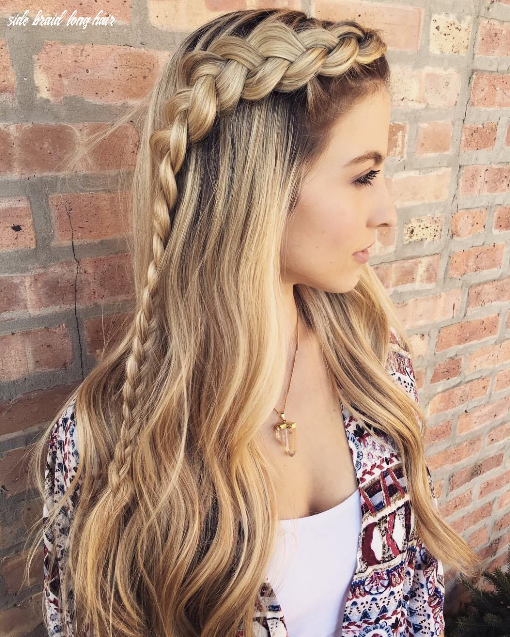 Hairstyles: side braid long hairstyle   braids for long hair