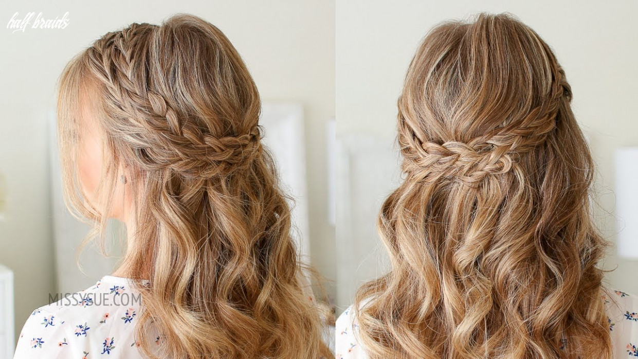 Half up double wrapped braids | missy sue half braids