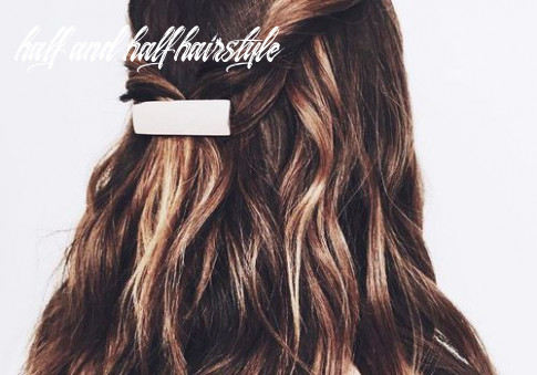 Half up, half down hair ideas that are perfect for lazy days half and half hairstyle