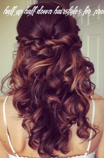 Half up half down hairstyle for curly hair prom long hairstyles