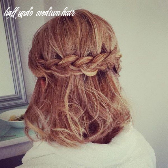 Half updo for shoulder length hair | prom hairstyles for short