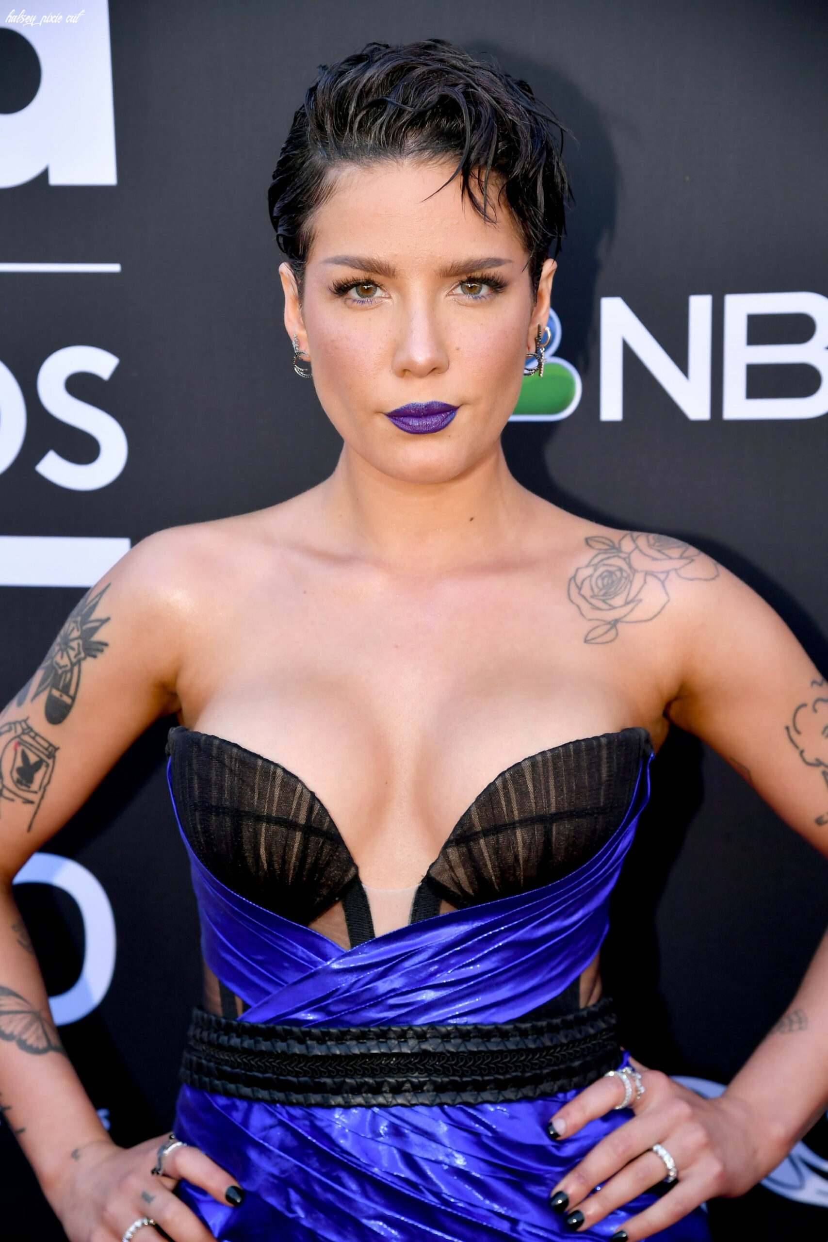 Halsey with a pixie cut | 11 celebrity pixie haircuts that will
