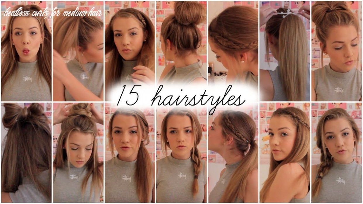 heatless hairstyles for medium length hair cute heatless ...