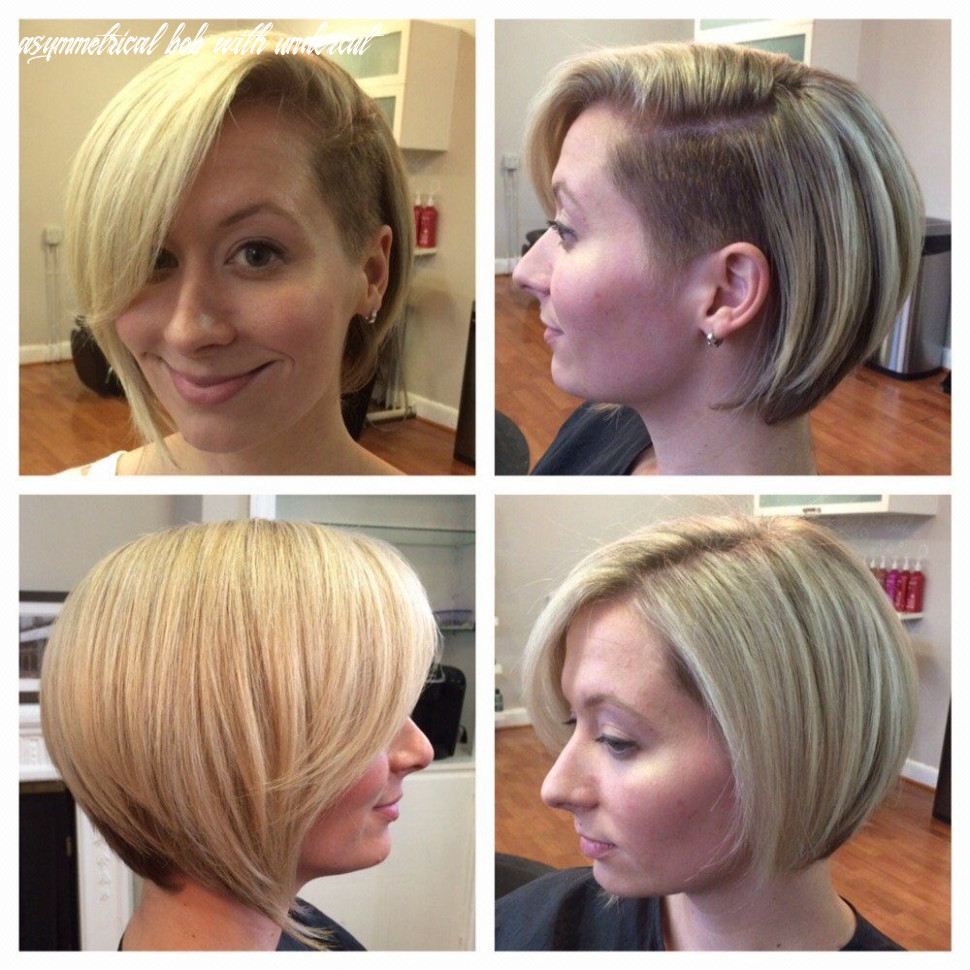 Hidden undercut on graduated asymmetrical bob (haute 10 salon