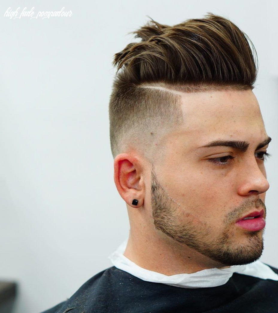 High fade pompadour hairstyle 12 top 12 fade haircuts for men