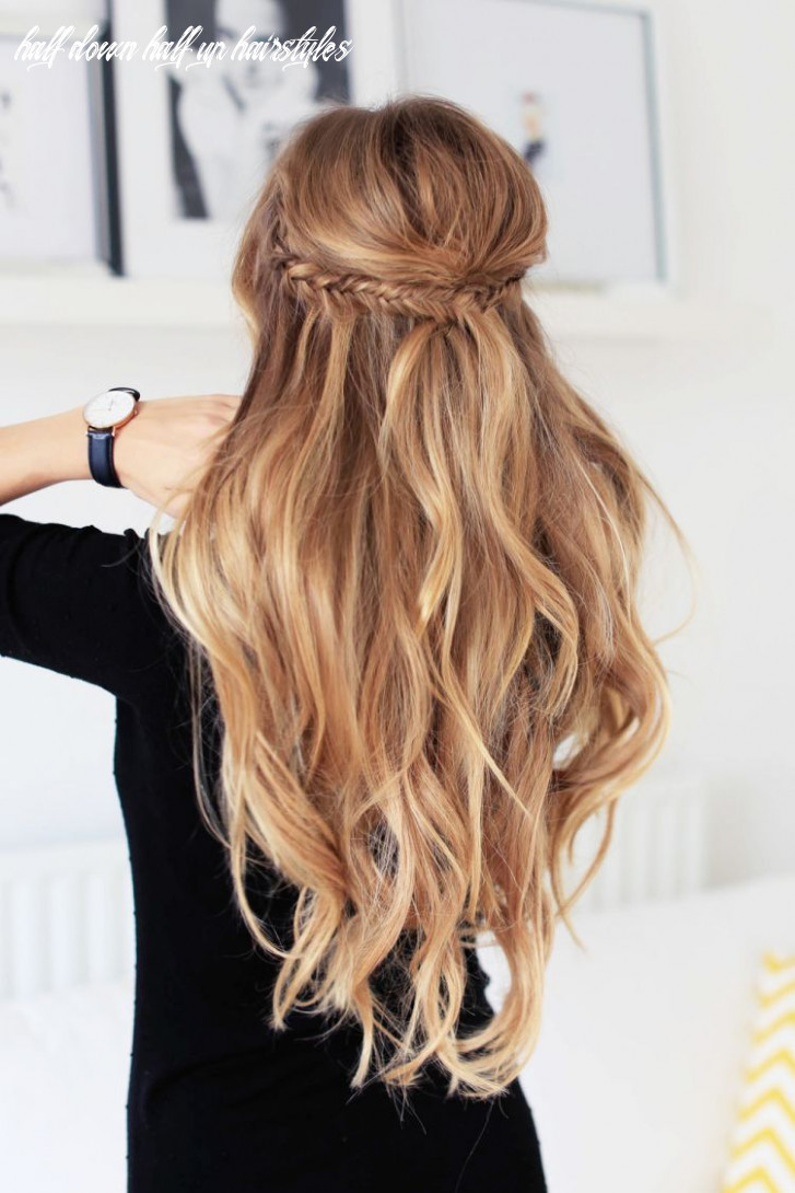 Holiday half updo hairstyle | long hair styles, hair styles, hair day half down half up hairstyles