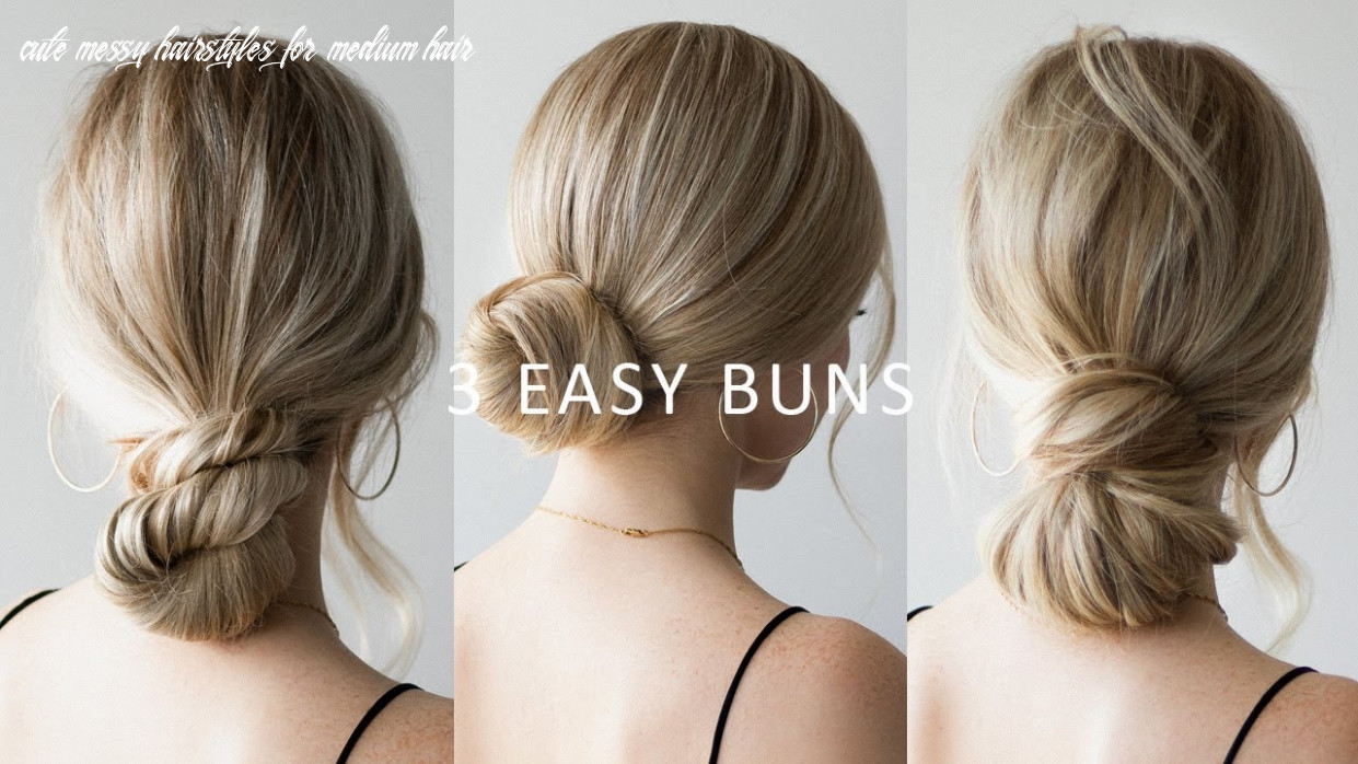 How to: 12 easy low bun hairstyles 💕 perfect for prom, weddings, work cute messy hairstyles for medium hair
