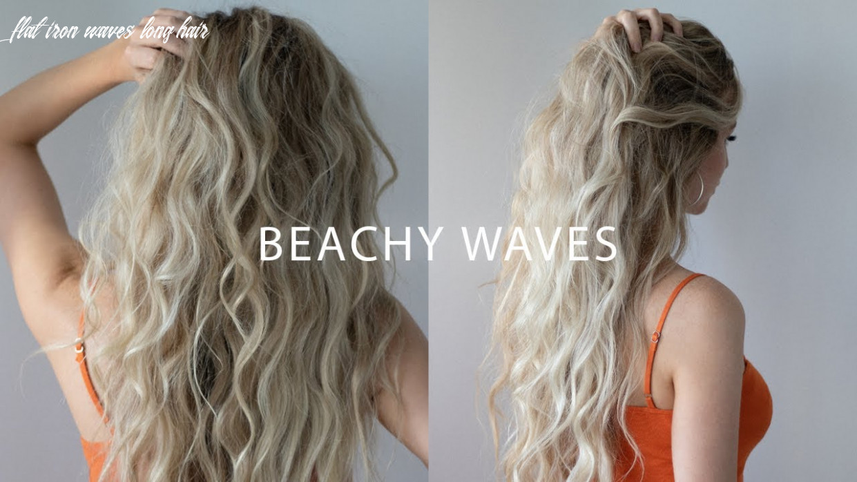 How to: beach waves with flat iron hair tutorial 🍊 ☀️ flat iron waves long hair