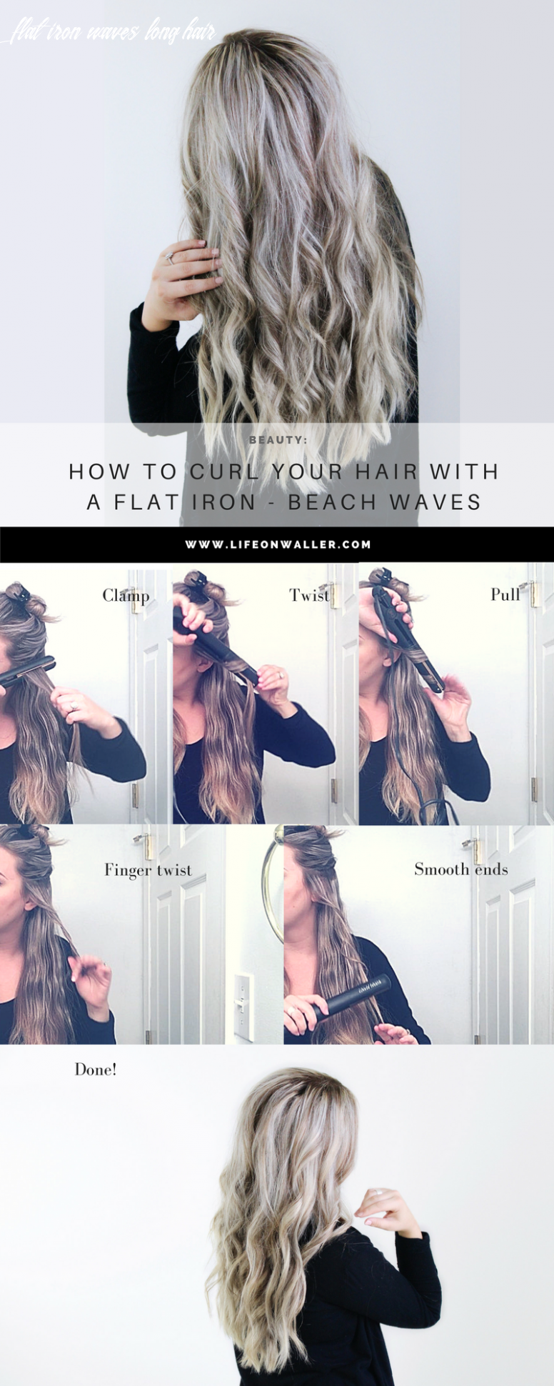 How to curl your hair with a flat iron beach waves | curls for