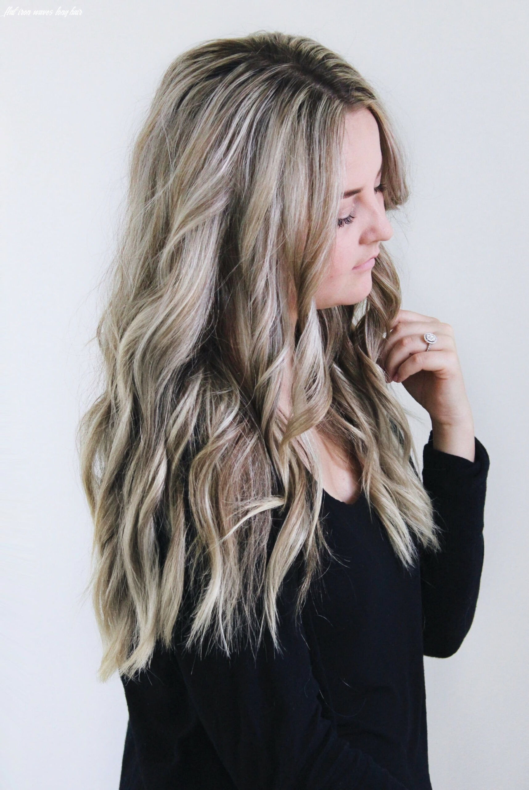 How to curl your hair with a flat iron – beach waves pinokyo flat iron waves long hair