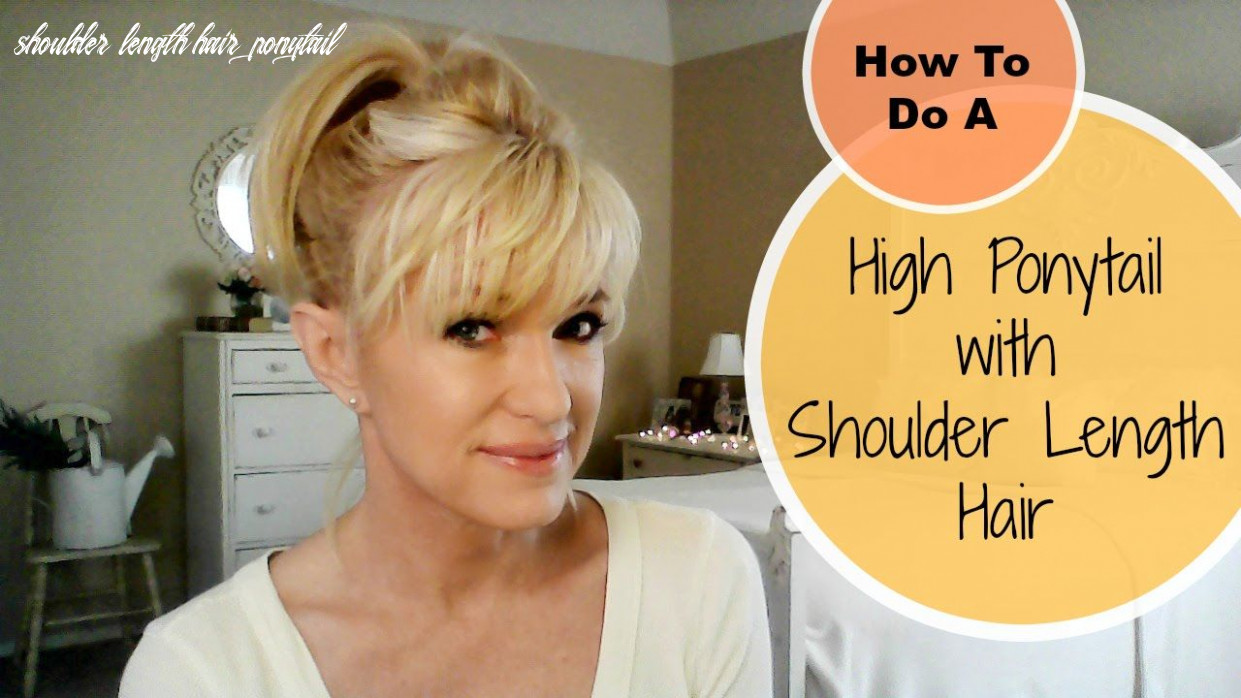 How to do a high ponytail with shoulder length hair! | hair