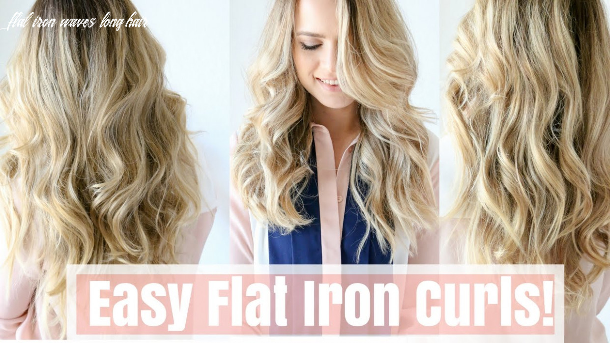 How to: easy flat iron curls (no twisting!) flat iron waves long hair