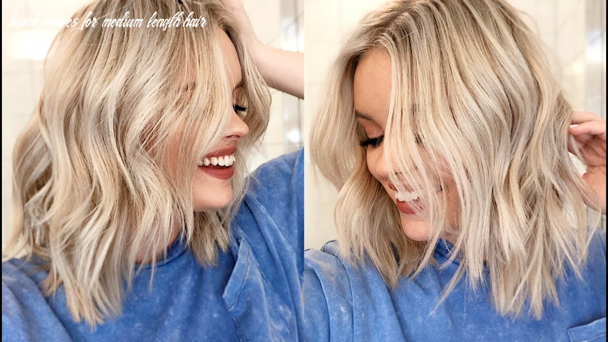 How to easy waves tutorial short to medium length hair beach waves for medium length hair