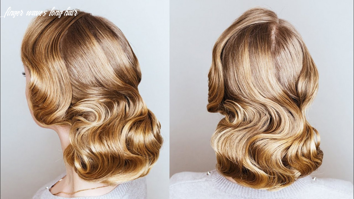 How to make finger wave with a flat iron | finger wave updo for long thin hair on new year eve finger waves long hair