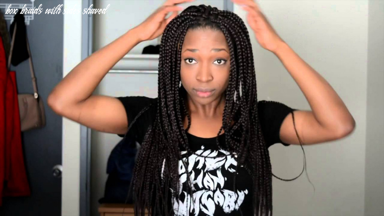 How to style box braids with shaved sides and undercut box braids with sides shaved