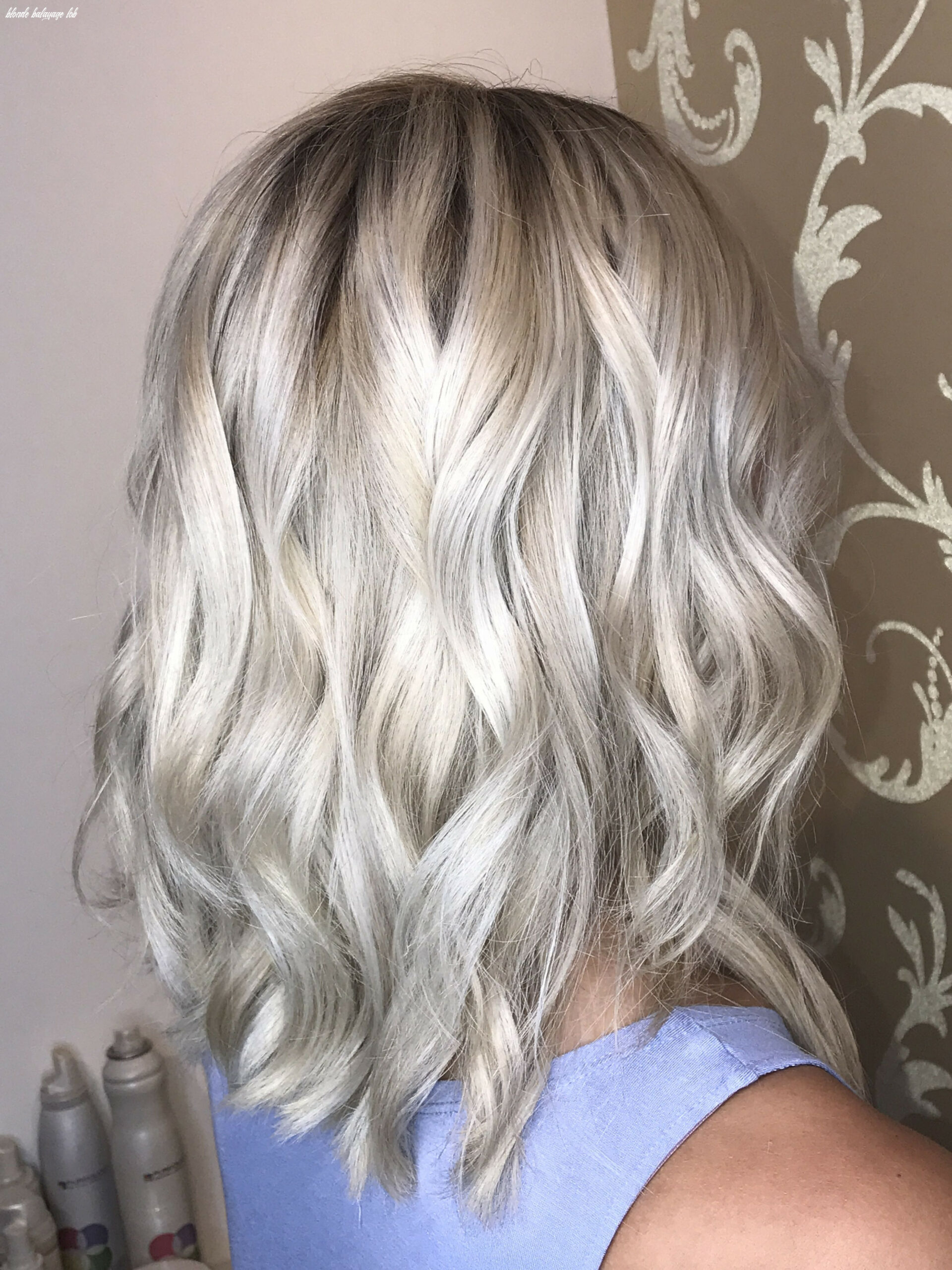 Icy blonde balayage and rooted lob | icy blonde, blonde balayage