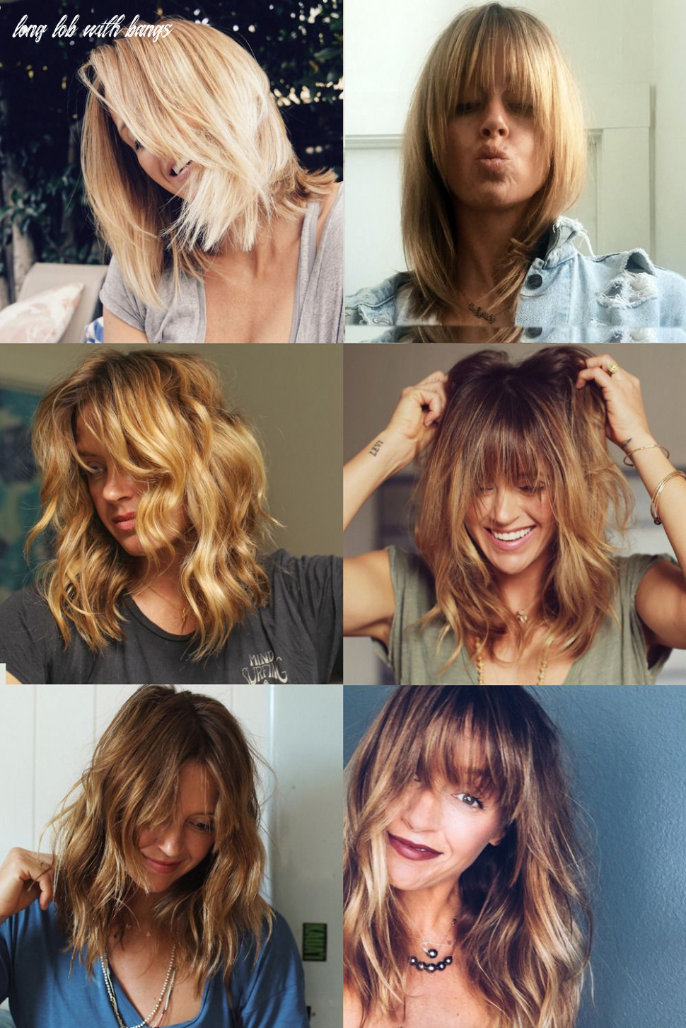 If anyone is looking for some | Lob hair with bangs, Blonde hair ...