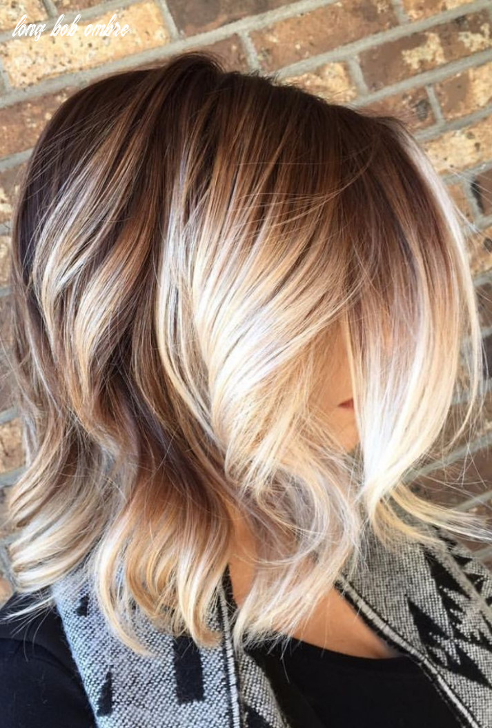 Image result for blonde ombre hair long bob | Frisuren, Balayage