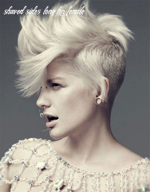 Image result for short side long top haircut women | Half shaved hair