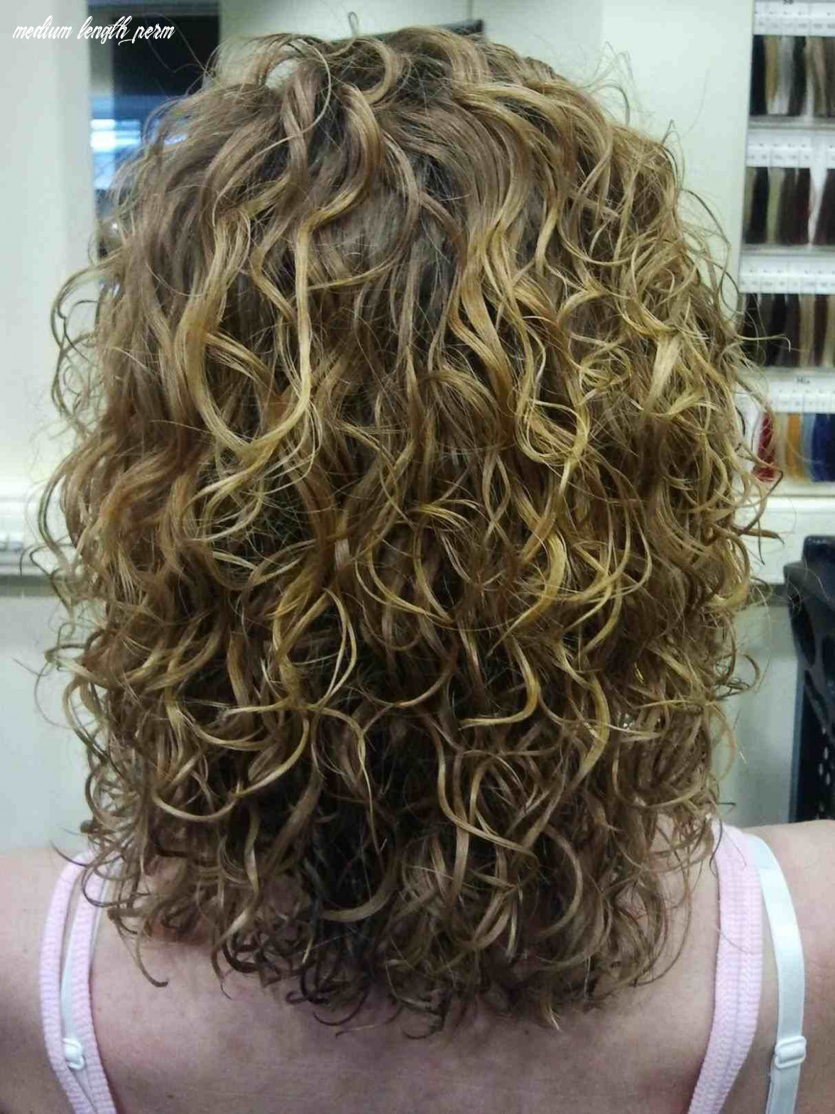 Image result for very large loose curl perms medium length