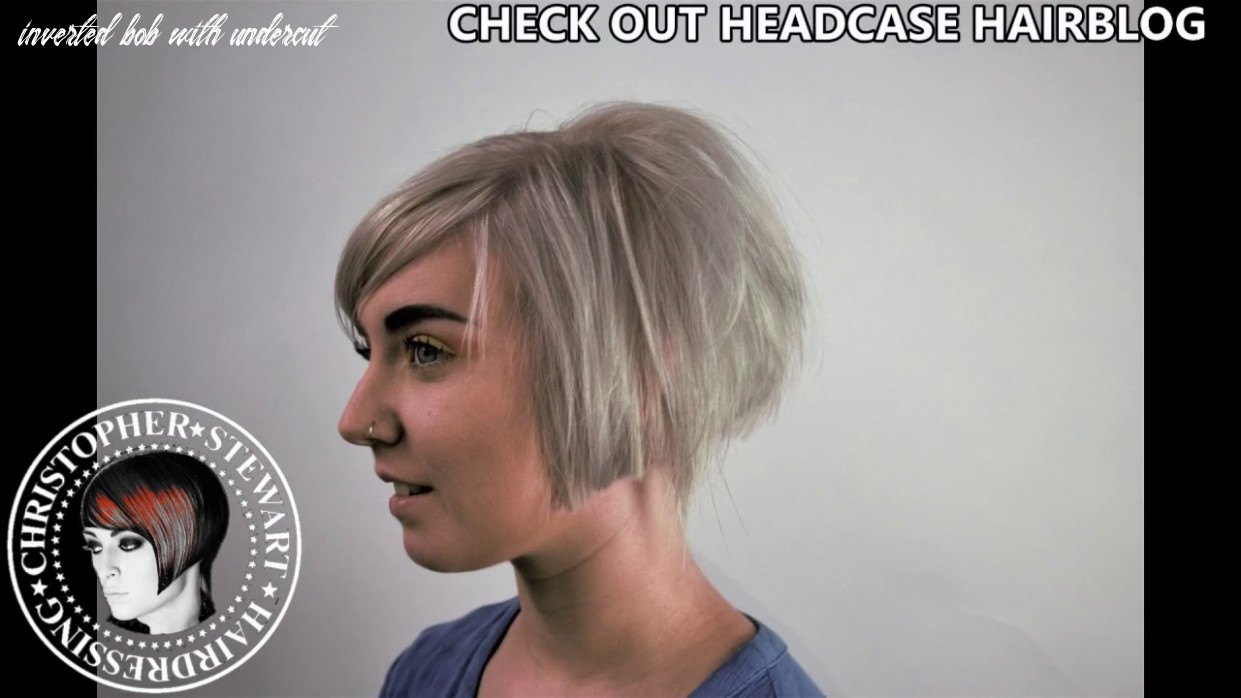 Inverted bob, with undercut and disconnected sections inverted bob with undercut