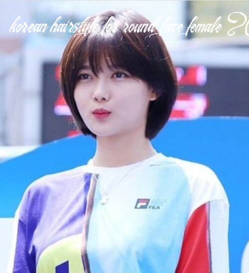 Korean Short Haircuts for Round Faces - 8+