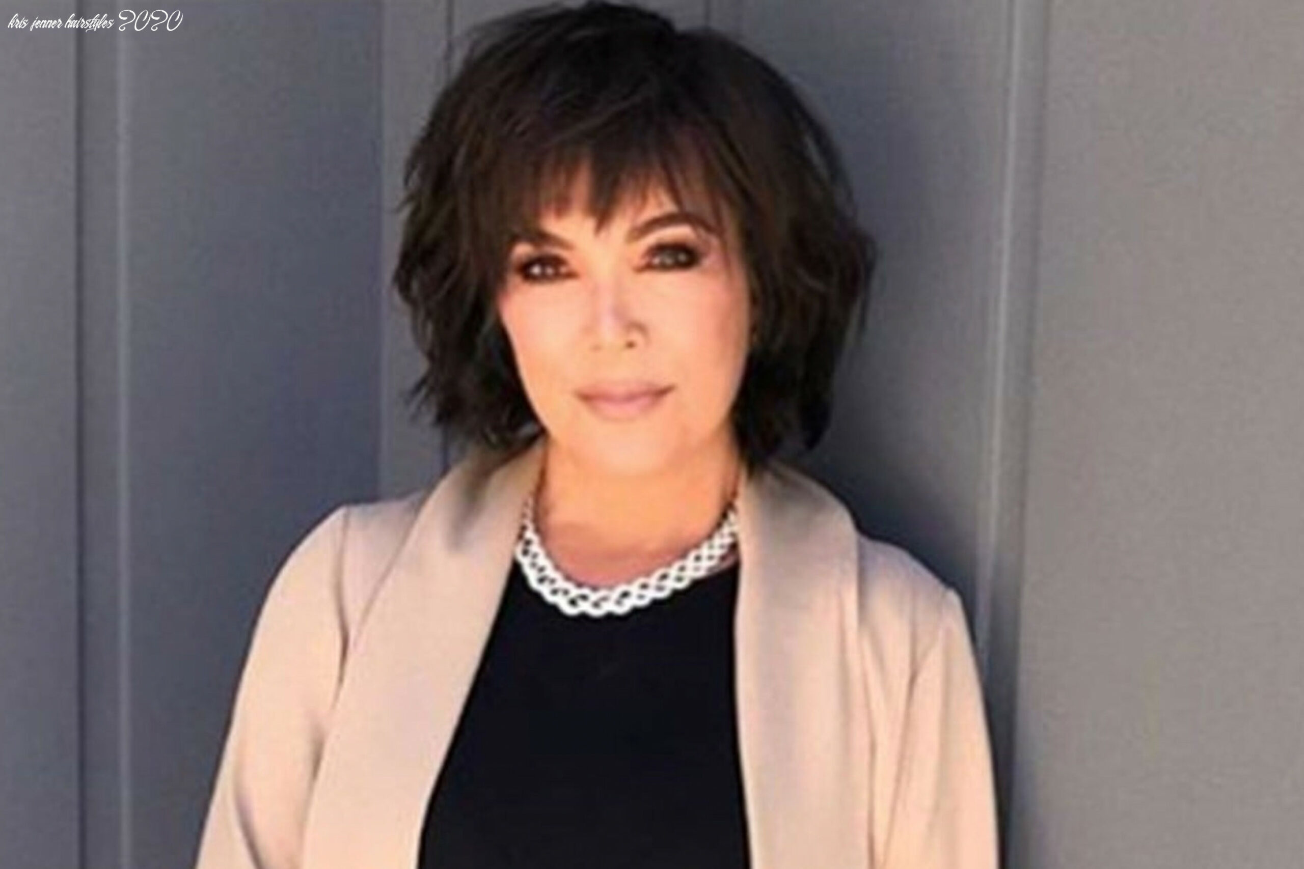 Kris Jenner's New Textured Bob Haircut Makes Her Look So Different ...