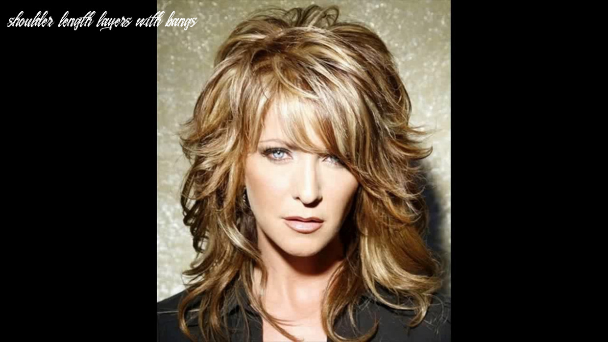 Layered haircuts for women with medium length hair youtube shoulder length layers with bangs