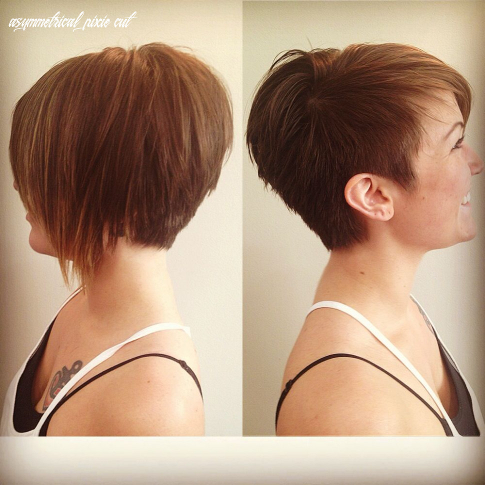 Like the left picture for both sides) asymmetrical pixie | short