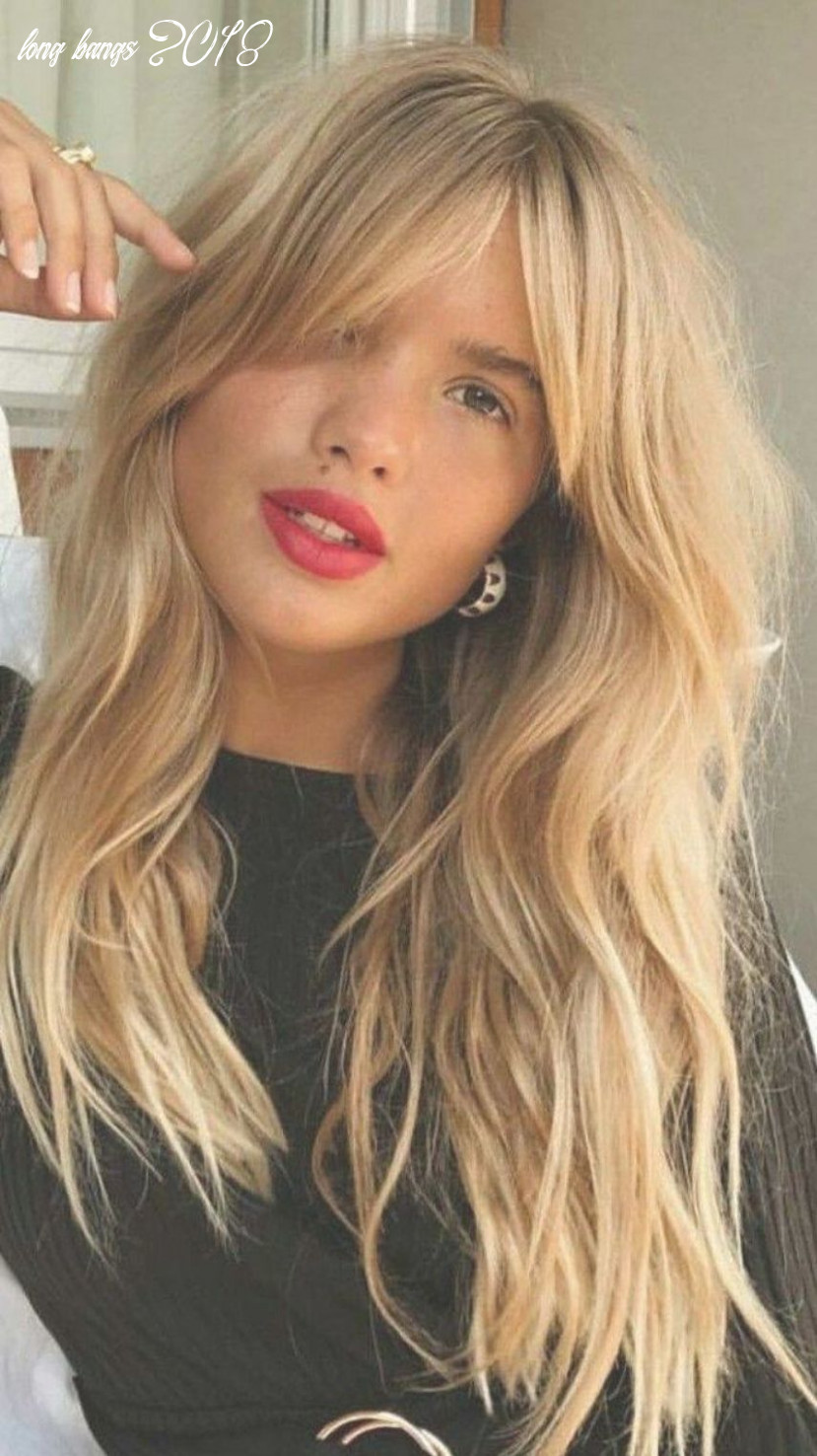Long bangs and wavy hair we are want to say thanks if you like to