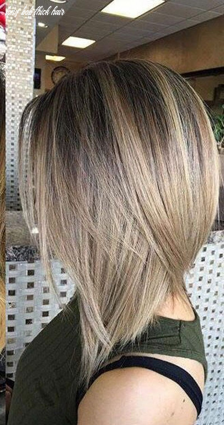 Long bob hairstyles for thick hair 10 10 cute bob hairstyles for