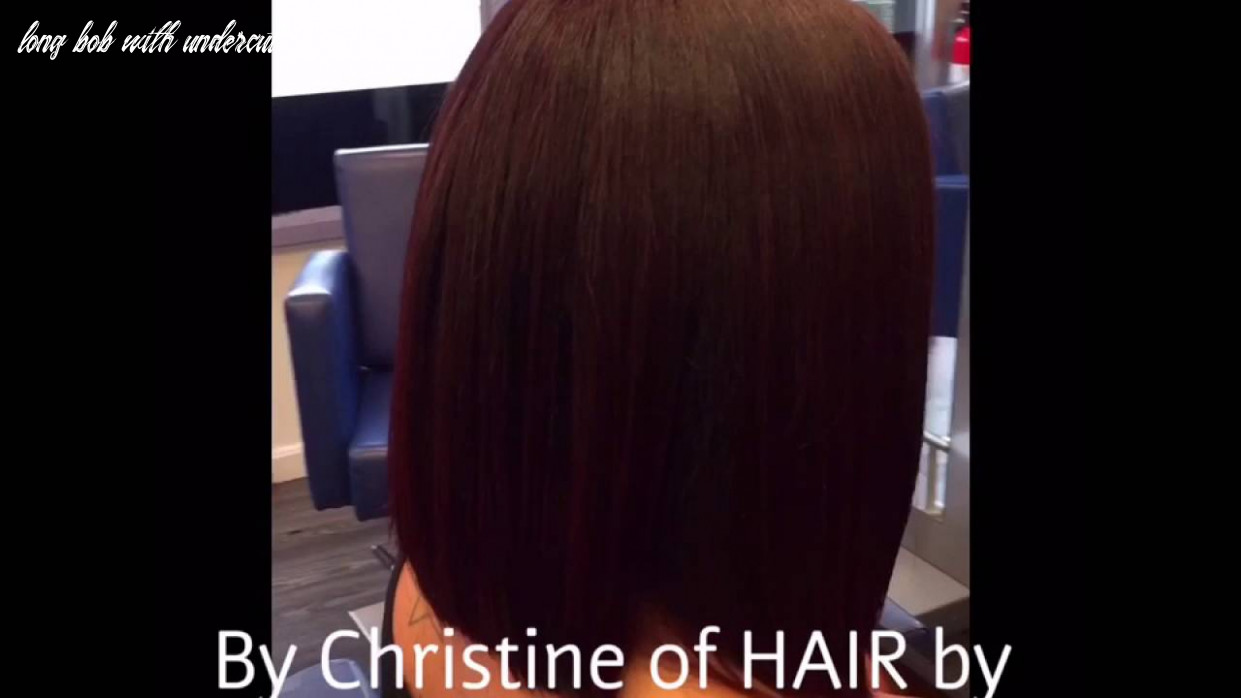 Long Bob with a fun designed Undercut by Christine of HAIR by Christine & co