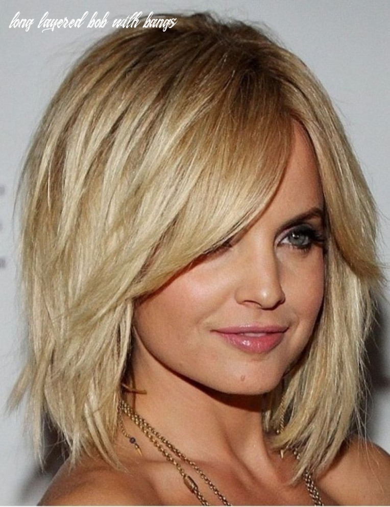 Long bob with layers and side bangs how to style side swept bangs