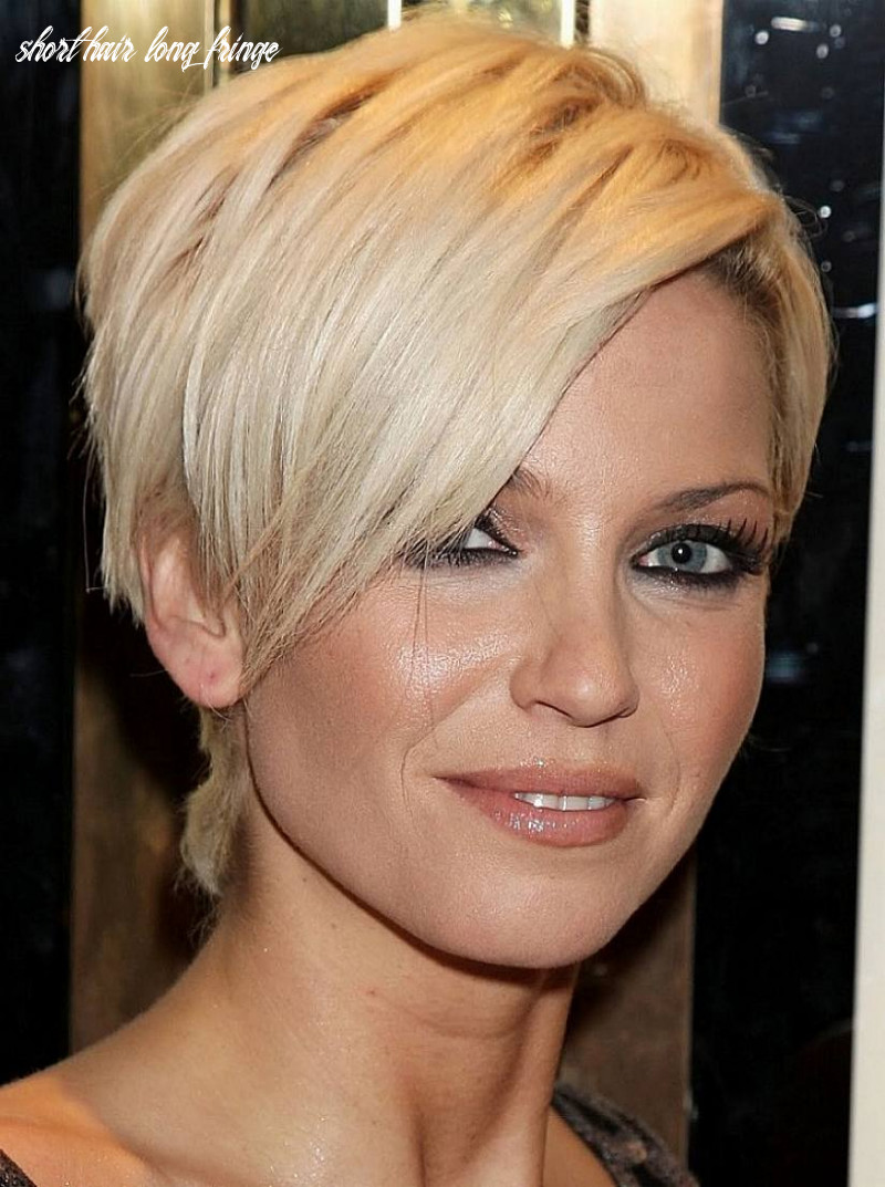 Long fringe short hairstyle | hairstyle album gallery | hairstyle