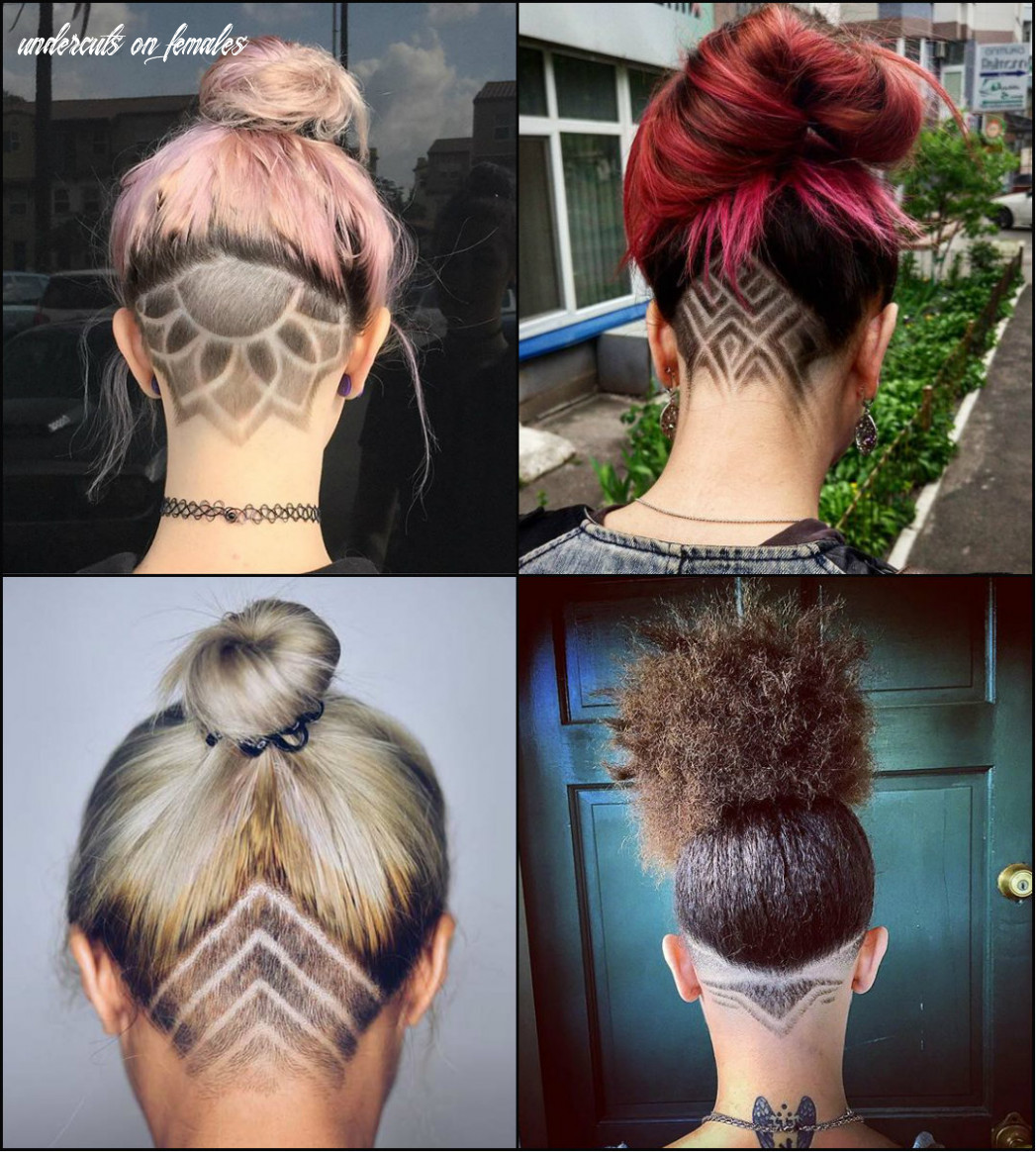 Long hairstyles: cool undercut female hairstyles to show off undercuts on females