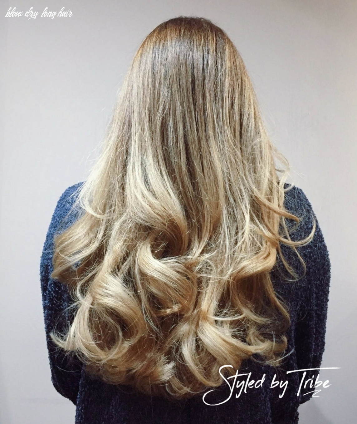 Long layered style with bouncy blow dry   styled by amy tribe