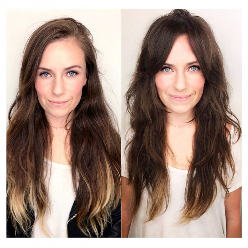 Long, soft fringe and layers changes shape in such a great way