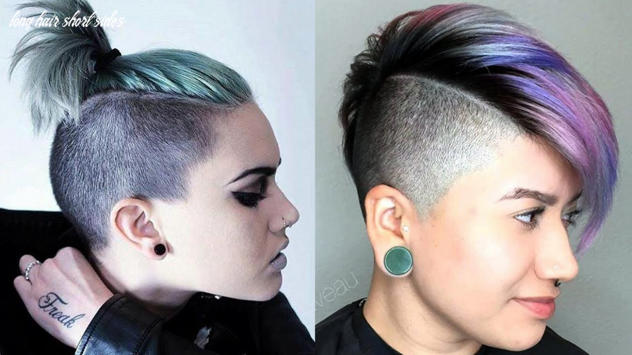 Long top short sides haircut women / extreme short hair cut for women long hair short sides